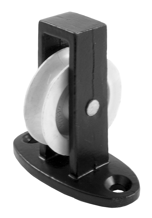 Image of 1.5in Single Upright Pulley Black Japanned