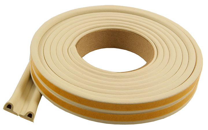 Image of EPDM Rubber P Draught Excluder Strip 5 Metre
