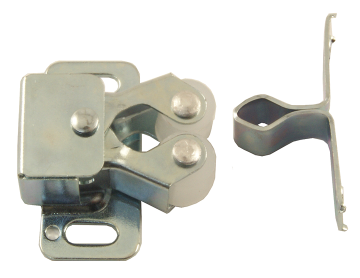 Image of Zinc Plated Double Roller Cupboard Catch