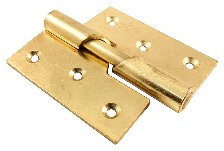 Image of Rising Door Hinges Electro Brass Plated Right Hand 76mm In Pairs