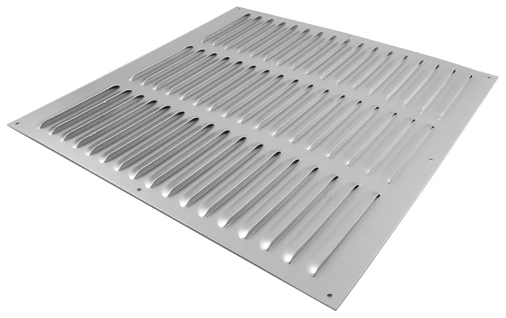 Image of Aluminium Fixed Slotted Vent 12x12in (300x300mm)