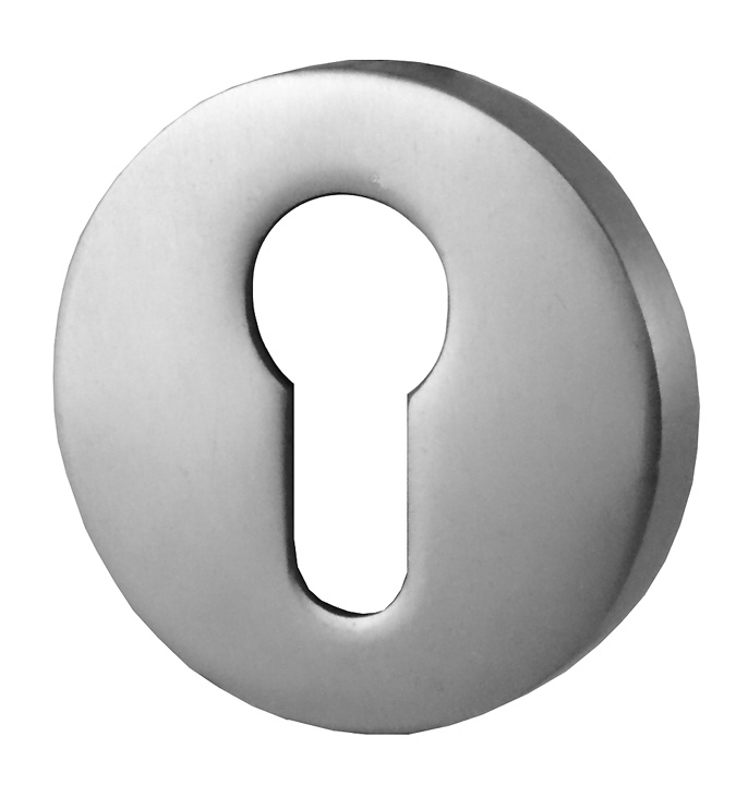 Image of EURO Covered Keyhole Cover Satin Anodised In Pairs