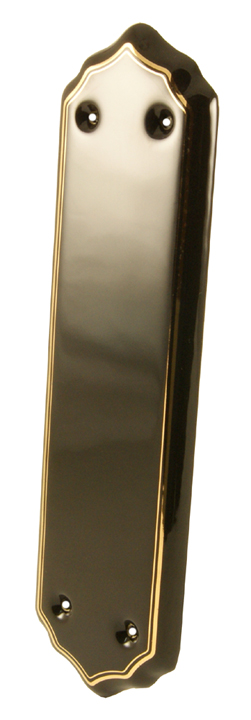 Image of Black Gold Line Porcelain Push Plate