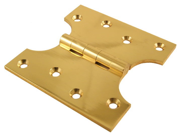 Image of Polished Brass Parliament Projection Hinges 102x51x102x4mm in Pairs