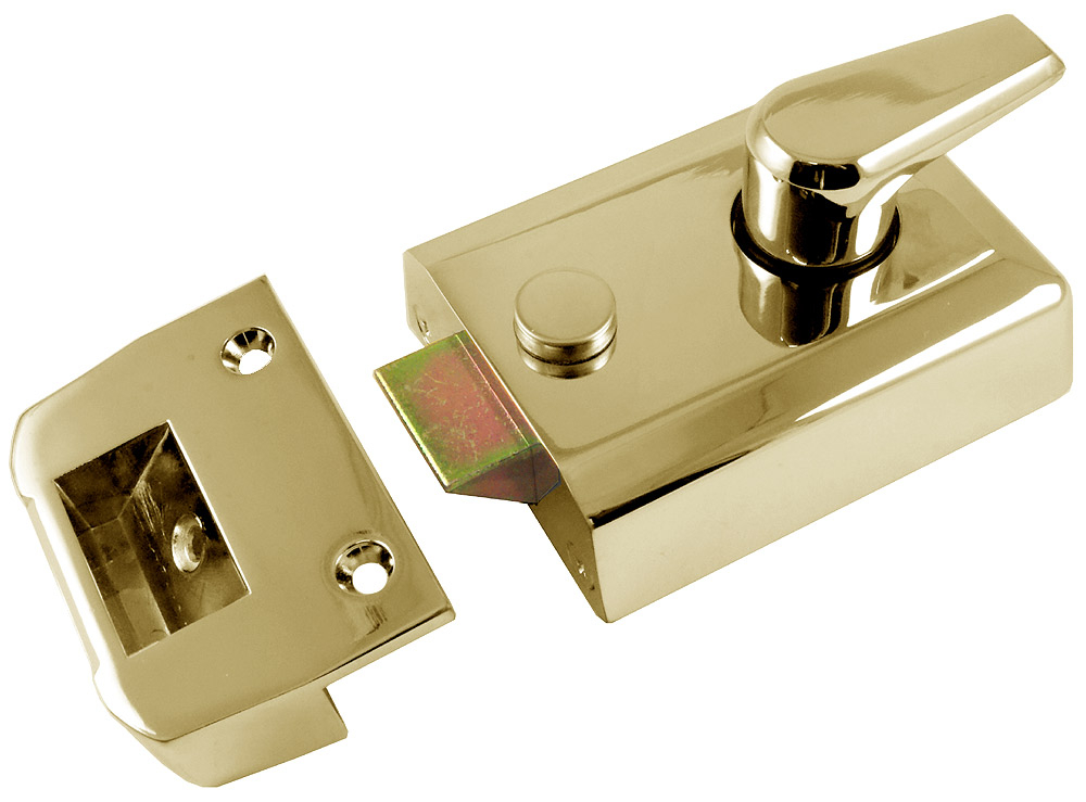 Image of M Marcus Brass Security Nightlatch and Cylinder