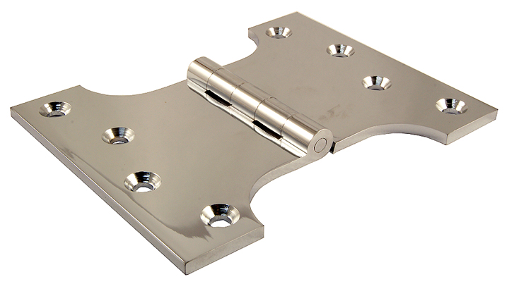 Image of Polished Chrome Parliament Projection Door Hinge 102x102x152x4mm