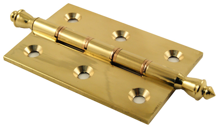 Image of Polished Brass Fancy Hinge Double Washered 76x51x3mm