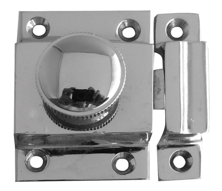 Image of Turn Button Door Catch Polished Chrome 56x36mm