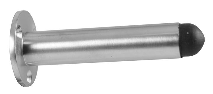 Image of Matt Chrome Tubular Door Stop 75mm