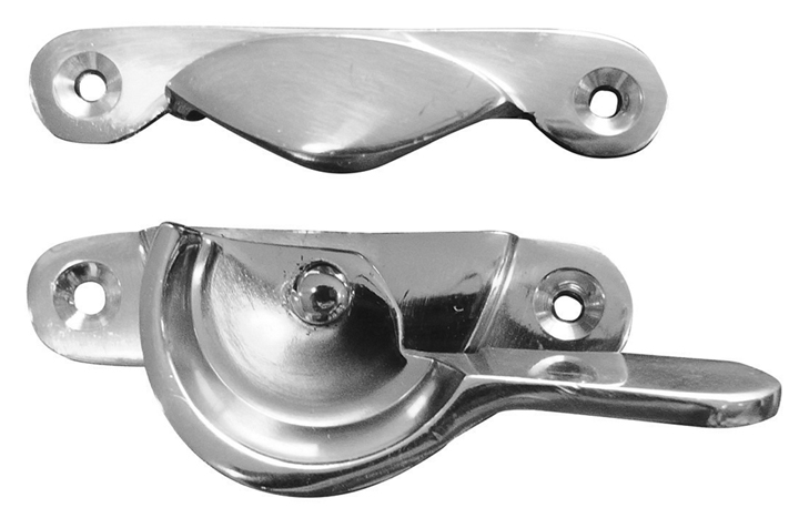 Image of Polished Chrome Fitch Window Fastener Handle 65mm
