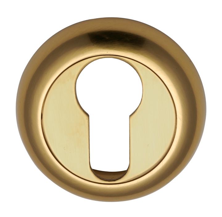 Image of Heritage V4004 Brass Concealed Euro Cylinder Cover 48mm