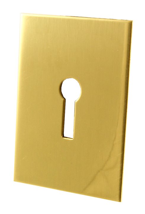 Image of Adhesive Backed Jumbo Keyhole Cover Brass