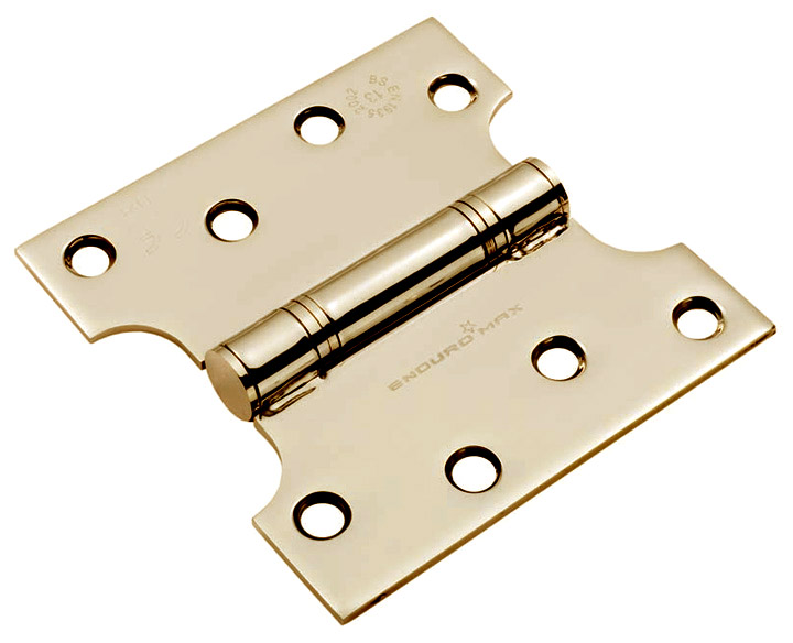 Image of Grade 13 PVD Stainless Steel Parliament Projection Hinge 102x50x102mm In Pairs