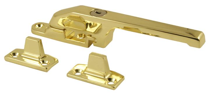 Image of Polished Brass Lockable Window Casement Fastener