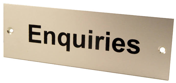 Image of Satin Anodised Plaque ENQUIRIES