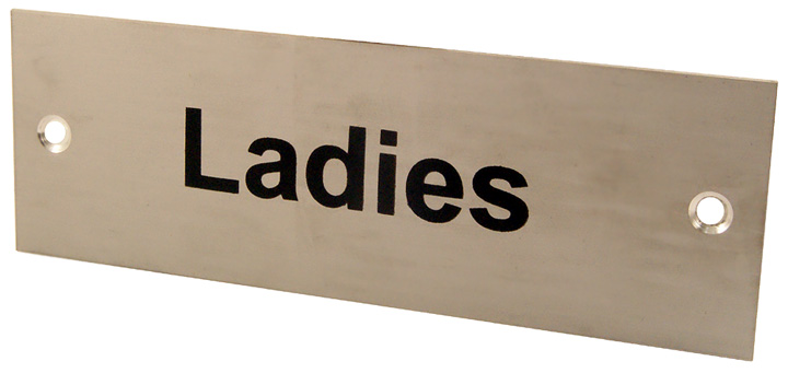 Image of Satin Anodised Plaque LADIES