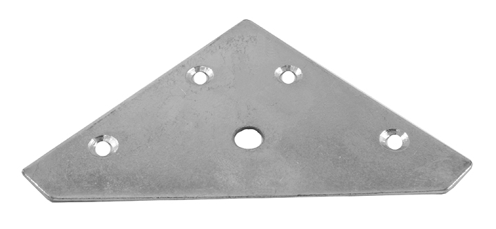 Image of Flat Corner Plates 81mm Zinc Plated