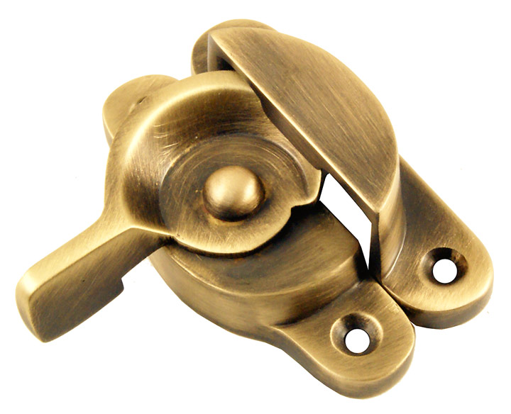 Image of Brass Antiqued Finish Fitch Fastener 70x25mm