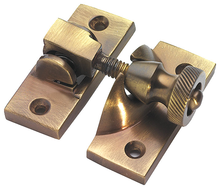Image of Brass Antiqued Finish Brighton Fastener 57x25mm