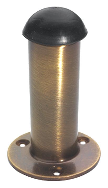Image of Brass Antiqued Finish Cylinder Door Stop 76mm