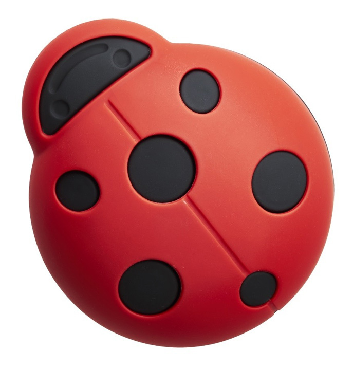 Image of Red and Black Ladybird Cupboard Knob