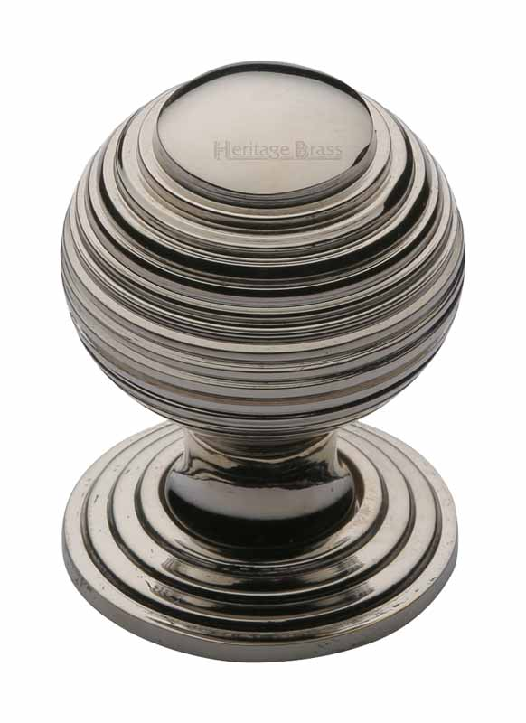 Heritage V973 Polished Nickel Reeded Cabinet Knob 32mm